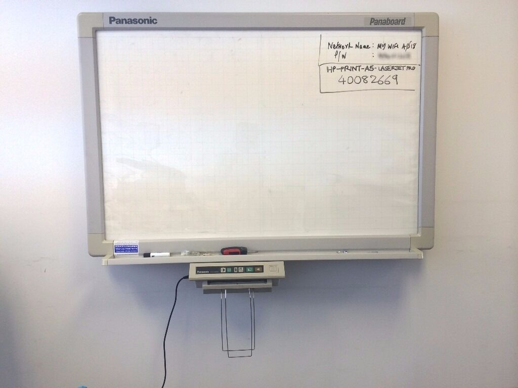 Panasonic Panaboard KX B530 Electronic White Boardin Leicester, LeicestershireGumtree - Panasonic Panaboard KX B530 Electronic Whiteboard Summary The Panasonic panaboard can be used as a normal whiteboard or push the screen copy button and watch something spectacular happen. The current display wraps itself around the back of the system...
