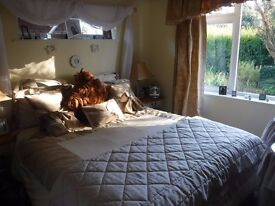 King size double bed with 4 under bed drawers.