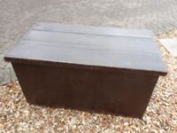 Antique Pine Box for Restoration, repair or Upcycle Project