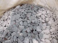 Slate chippings 40mm Green. Suitable for drives, paths etc