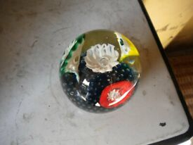 Rare vintage Glass paperweight