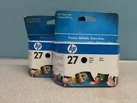 2 HP 27 black Inkjet Print Cartridges