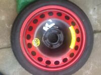 Vauxhall space saver spare wheel, off Zafira but will fit others.