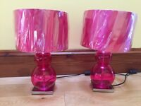 2 Pink Lamps