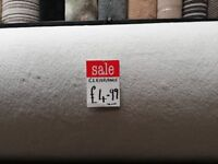 Hessian back carpet for sale 1 roll only white in colour bargain price