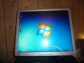 "Dell Windows 7 Desktop PC & 17"" Flat Screen Monitor"