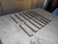 Stainless steel kitchen unit handles