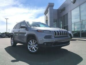 2017 Jeep Cherokee LTD,V6,4X4,LEATHER,NAV,HEATED SEATS/WHEEL