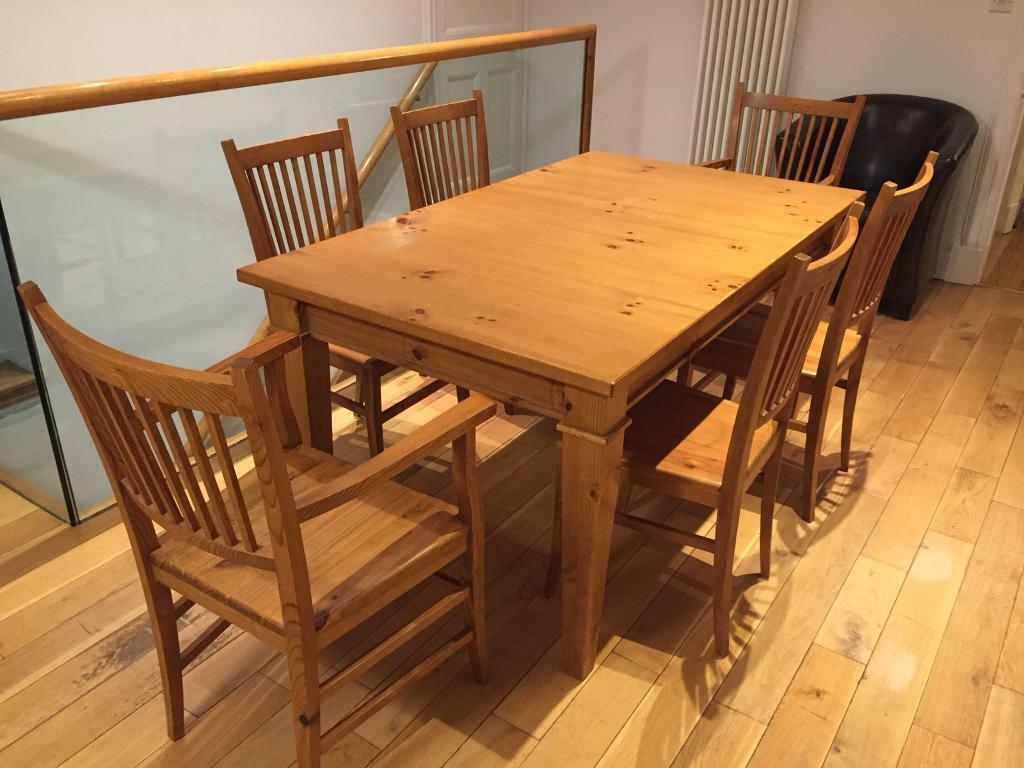 Extendable 6 to 10 seater dining table and 6 chairs | in ...