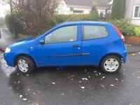 Fiat Punto Active 3 door hatchback. Petrol.1242cc. Blue.75347 mileage. No MOT.£200 Ono. Drive away