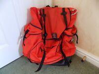 Large orange rucksack