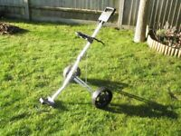 Folding/collapsible golf trolley. VGC, light-weight,strong,removable wheels