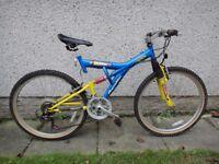"Apollo Rampage full suspension bike 26"" wheels 21 gears, 18 inch frame"