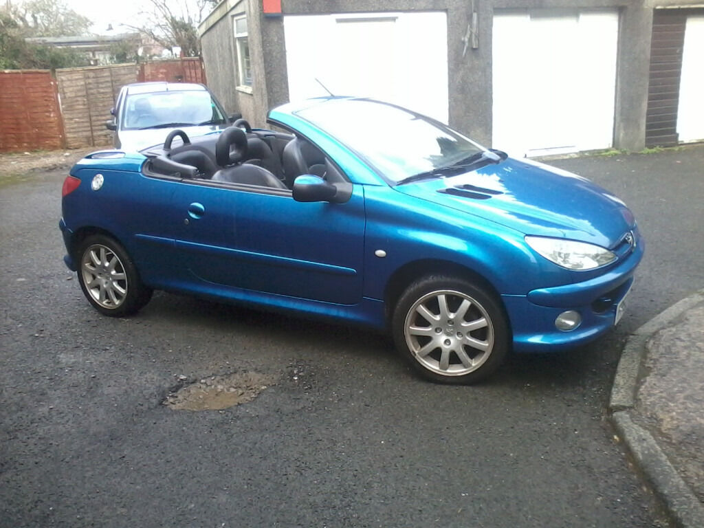 metallic blue peugeot 206 cc for sale in plymouth devon gumtree. Black Bedroom Furniture Sets. Home Design Ideas