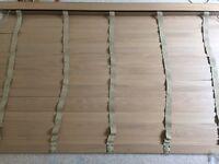 Set Of 2 Wooden Venetian Blinds 172cm Width Drop 114cm All Brackets Included