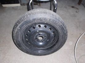 Dunlop Sport Tyre on Stell Wheel Spare as new from Rover 400