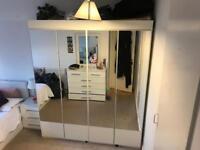 Mirrors Wardrobe Furniture White good condition