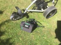 Powercaddy electric golf trolly with battery and charger good condition