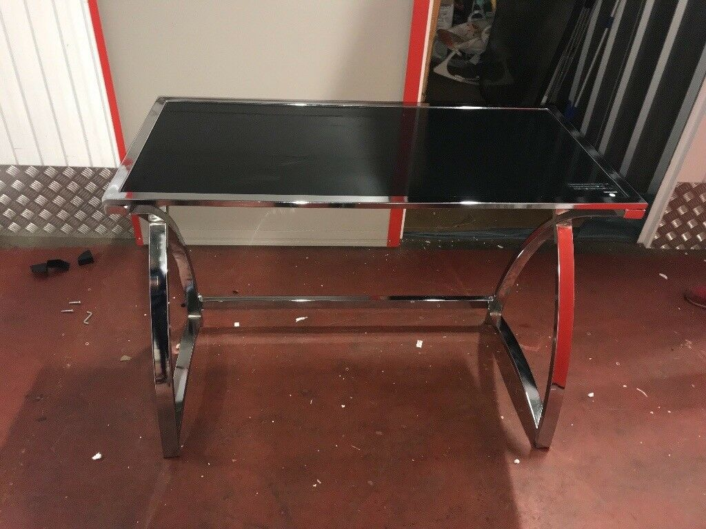 Glass and chrome table/desk