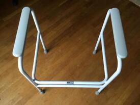 Free standing wc safety frame.