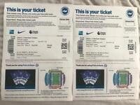 Brighton vs Tottenham Football tickets x 2 Sept 22nd