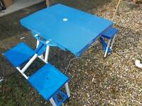 Folding Camping Picnic Table & Chairs