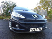 57 PEUGEOT 207 S 1.4 ESTATE,MOT OCT 018,2 OWNERS FROM NEW,2 KEYS,PART HISTORY,VERY LOW MILAEGE CAR