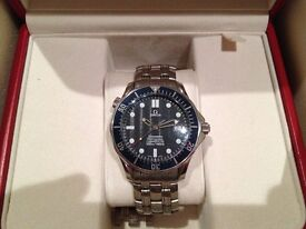 Genuine Omega Seamaster Swiss Automatic Watch with Helium Valve