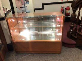 Glass/cherrywood display cabinet