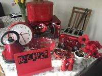 Red Kitchen electricals and accessories