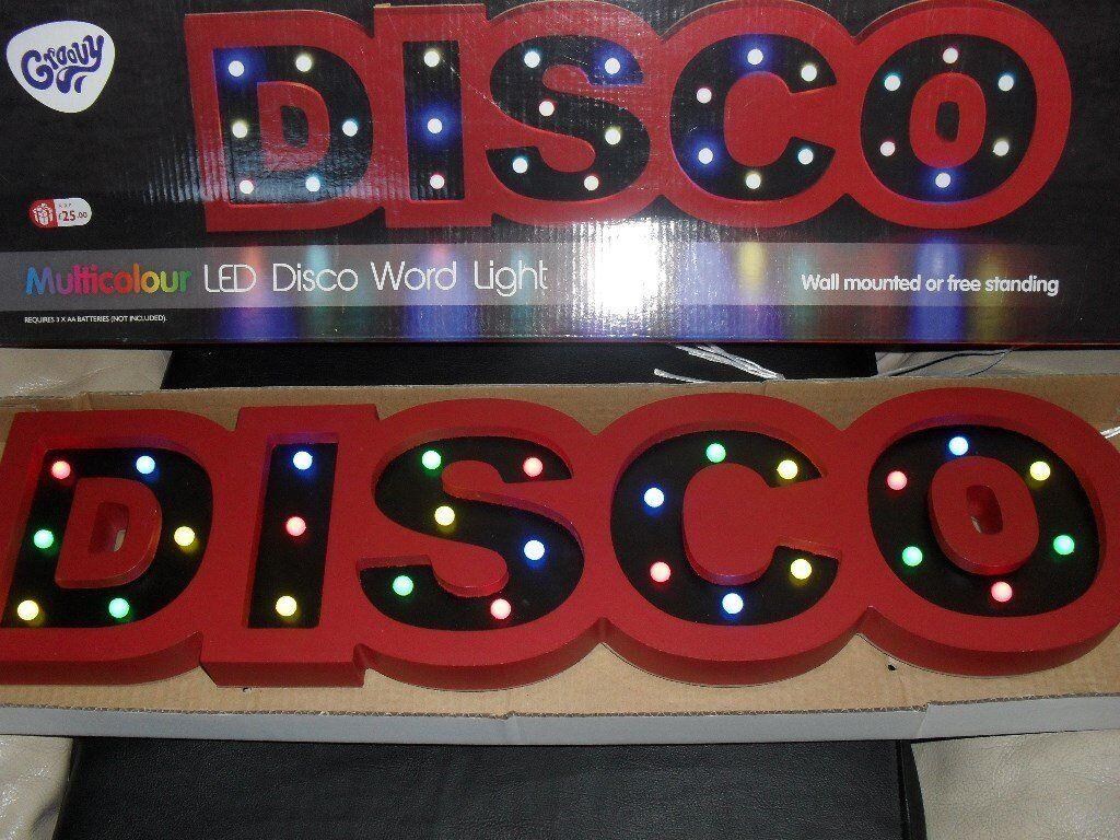 led muliticoloured disco lights