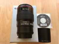Canon 100mm f2.8 IS macro lens MINT COND with Original BOX