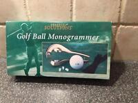 Brand New Golf Ball Mongrammer