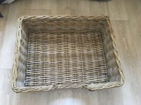 Lovely nearly new large wicker dog bed