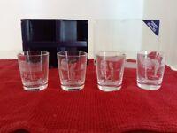 Edinburgh Crystal Shot Glasses golf