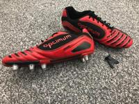 Mens Optimum Velocity 8 Stud Rugby Boots Size 12