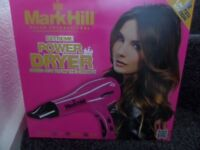 Mark Hill pink hairdryer. Like new, only opened to try.