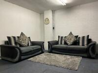 SOLD- Grey & black Harvey's sofas 3&2 delivery 🚚 sofa suite couch furniture