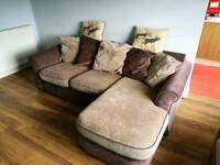 Three seater corner sofa and armchair