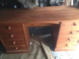 Dressing table, desk in solid pine