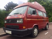 LEZ EXEMPT 1990 VW T25 WESTFALIA CALIFORNIA SUPERB CONDITION THROUGHOUT ORIGINAL PAINT £9998 BARGAIN