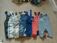 Boys 3-6 Dungarees (7 pairs)