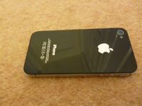 IPHONE 4 S BLACK UNLOCKED FACTORY RESTORED 8GB VGC WITH CHARGER AND LEAD