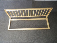 Solid wood bed rail