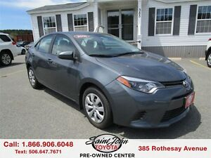 2016 Toyota Corolla LE Backup Cam+Heated Seats $132.99 BI WEEKLY