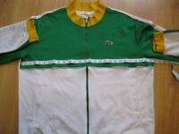 Lacoste sport zip up top retro style size 9