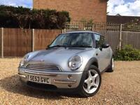2004 Mini One Chili 72k Silver Great Spec and Condition Long MOT