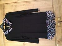 Black with shirt effect butterfly design