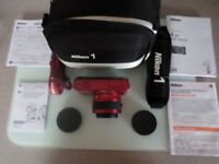 Nikon 1 J1 10.1MP Digital Camera - Red (Kit w/ VR 10-30mm f/3.5-5.6 Lens)