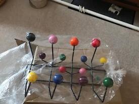 Charles Eames Inspired Atomic Coat Rack / Hooks